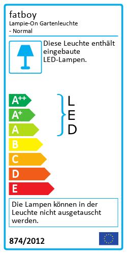 Lampie-On GartenleuchteEnergy Label