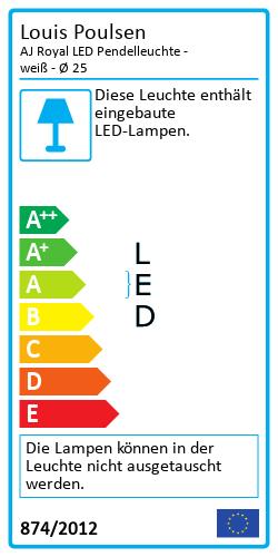 AJ Royal LED PendelleuchteEnergielabel